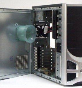 Мощный ПК с монитором и колонками.