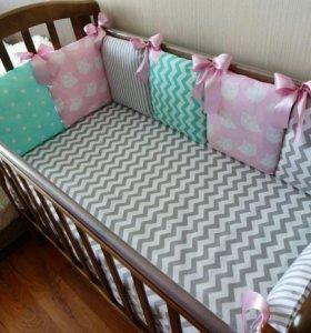 Бортики в детскую кровать.