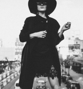 Платье-комбинация из итальянской шерсти с кружевом