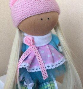 Интерьерная кукла тыквоголовка / большеножка