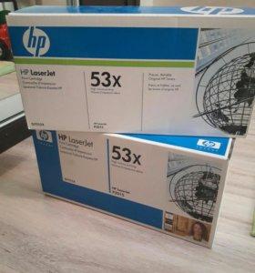 Q7553X оригинальный картридж HP