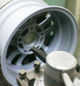 Ремонт проточка литых дисков