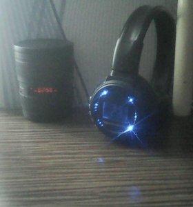 Наушники Digital Headphone вместе с Колонкой
