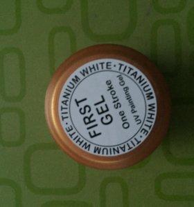 Цветной гель-белый