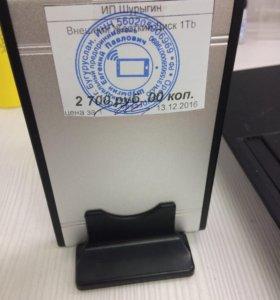 Внешний жёсткий диск 1tb