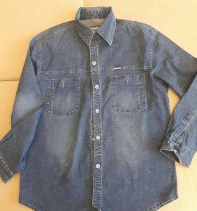 Рубашка джинсовая 50р.