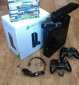 Xbox360E 500gb+Kinect+2геймпада