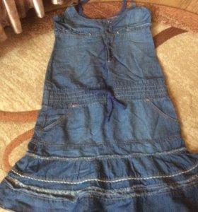Платье джинсовое новое р42-44