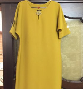 Платье-желтое