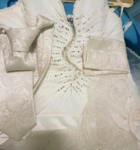 Свадебное платье + аксессуары для жениха
