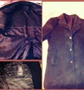 Костюм,и пальто черное