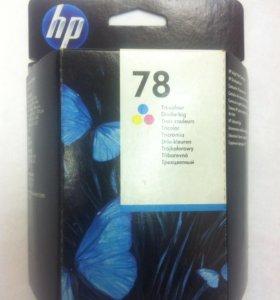 Оригинальный цветной картридж HP C6578D #78