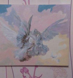Картина «Голуби»