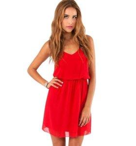 Красное шифоновое платье River Island
