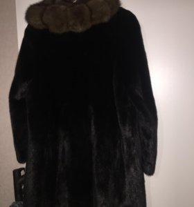 Шикарное норковое пальто