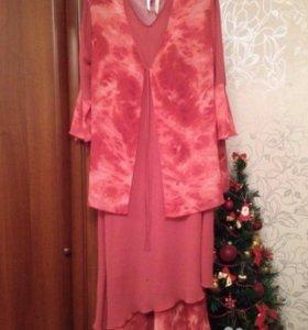 Костюм с платьем платье женское нарядное