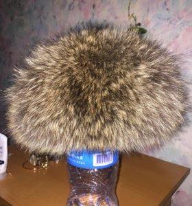 мужская натуральная шапка-ушанка