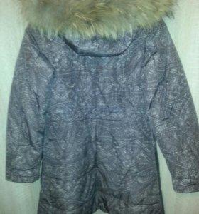 зимнее пальто - пуховик  на  девочку.