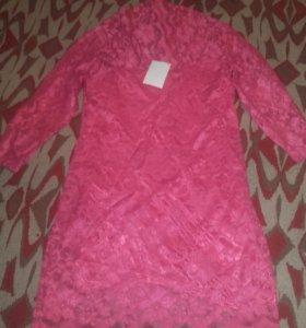 новое гипюровое платье р.46