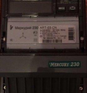 Электросчетчик трехфазный меркурий 230 art-03cn