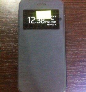 Чехол книжка на iPhone 6 6S чёрный