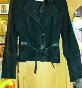 Куртка-Пиджак замш,кожа натур.