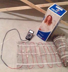 Сверхтонкий двухжильный нагрев мат с кабелем Devi