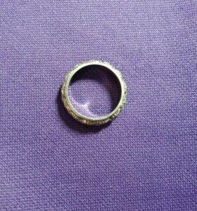 Кольцо серебро 875 пробы