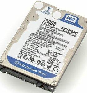 """Жесткий диск (750Gb) для ноутбука """"2.5"""""""