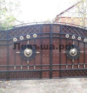 Кованые ворота В-201.