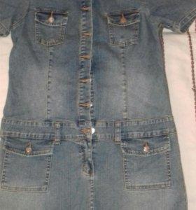 Новое джинсовое платье 46р