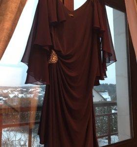 Шикарный цвет вечернее платье