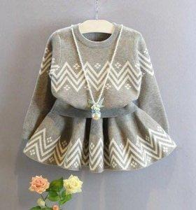 Комплект юбка + свитер. Новый