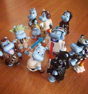 """Киндер игрушки. Бегемоты, серия """"Звёздные Войны"""""""
