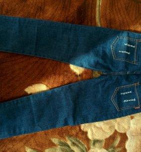 Продам крутецкие новые джинсы на девочку 8-9 лет