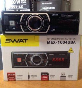 Автомагнитола 1-din Swat MEX-1004 UBA, 24volt.