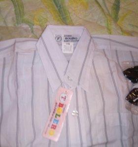 Новые рубашки с бабочкой р. 114/122