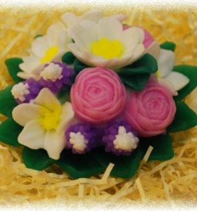 Мыло ручной работы Букет цветов
