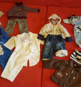 Одежда для мальчика от 6 месяцев до года + подарок