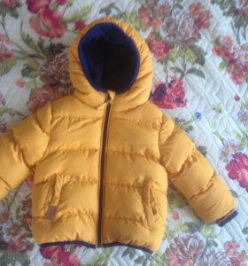 Куртка детская демисезонная тёплая на мальчика