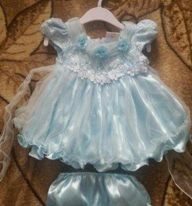Нарядное платье на малышку!