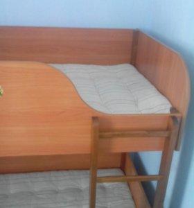 Кровать подростково-детская, двухярусная