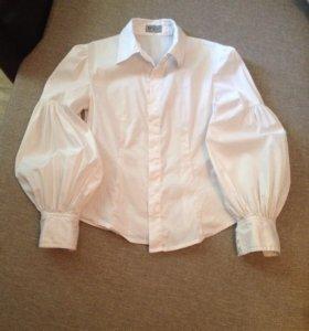 Блузка/рубашка школьная для девочки, 140-146
