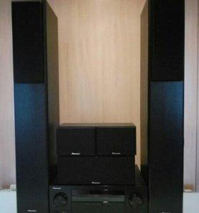 1) AV-RECIVER PIONEER - VSX-323 с акустик