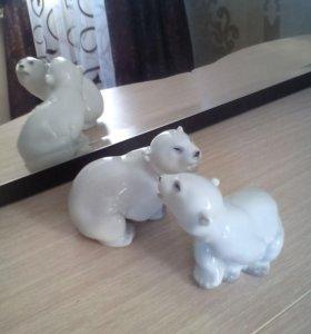 мишки полярные  УМКА 2 шт фарфор ЛФЗ