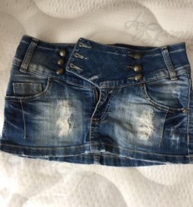 Мини юбка джинса lime