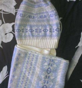 Шапка+шарф (зима)