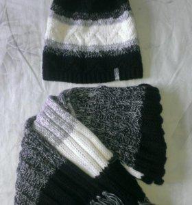 Шапка+шарф (весна-осень)