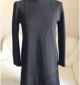 Платье Fendi с замшей