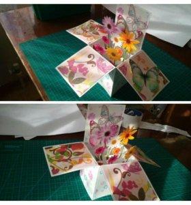 Открытки ручной работы, торты из памперсов